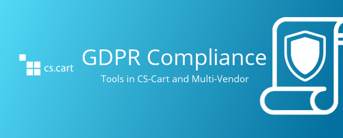 Prihajajoča podpora za GDPR v CS-Cartu in Multi-Vendor